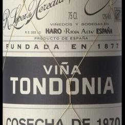 Viña Tondonia Blanco Gran Reserva 1970