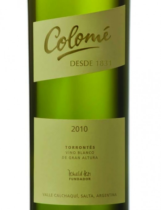 Colome Salta Torrontes 2010 Argentina wine