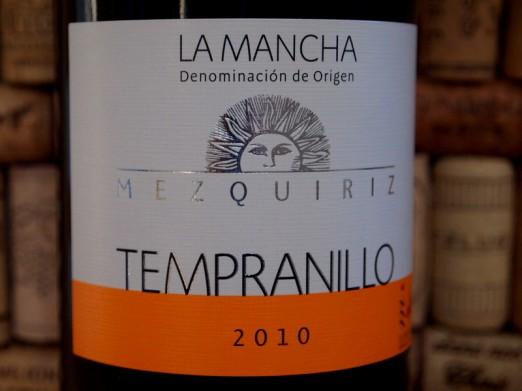 Mezquiriz Tempranillo La Mancha 2010
