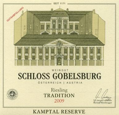 Schloss Gobelsburg Kamptal Riesling Tradition 2009