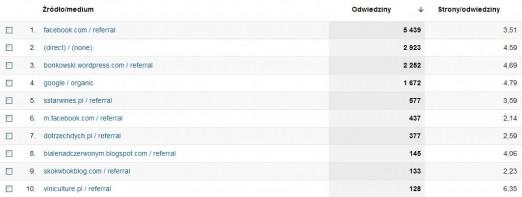 Winicjatywa statystyki luty 2012 źródła wejść