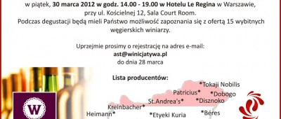 Furmint & Friend degustacja win węgierskich Winicjatywa Warszawa