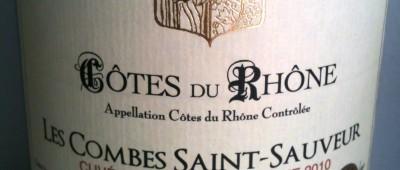 Jean Lapardieu Cotes du Rhone Les Combes Saint-Sauveur 2010