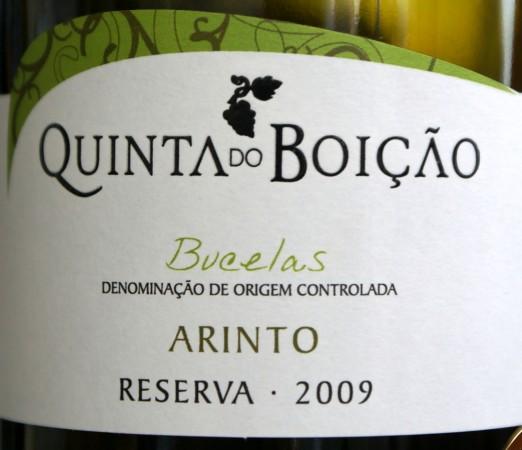 Quinta do Boição Bucelas Reserva Arinto 2009
