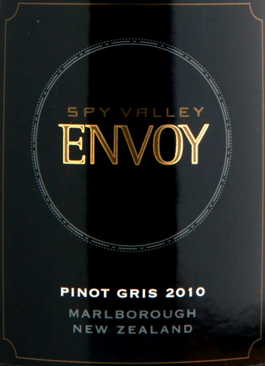 Spy Valley Marlborough Envoy PInot Gris 2010