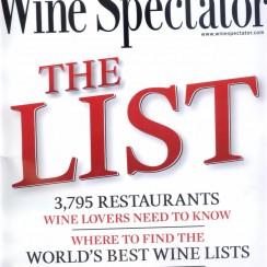 Wine Spectator's Restaurant Wine List Awards