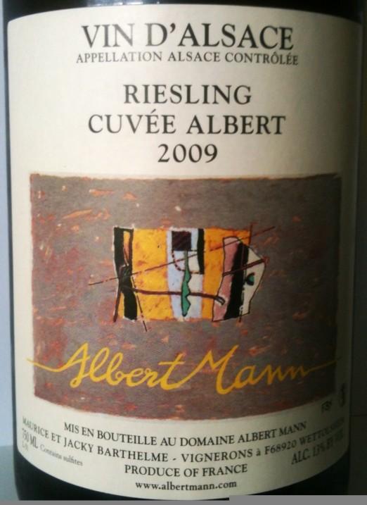 Albert Mann Alsace Riesling Cuvee Albert 2009