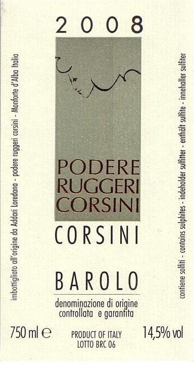 Barolo Ruggeri Corsini 2008