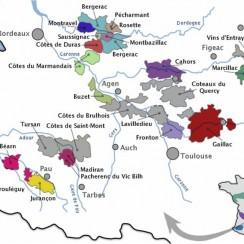Cahors vineyard map