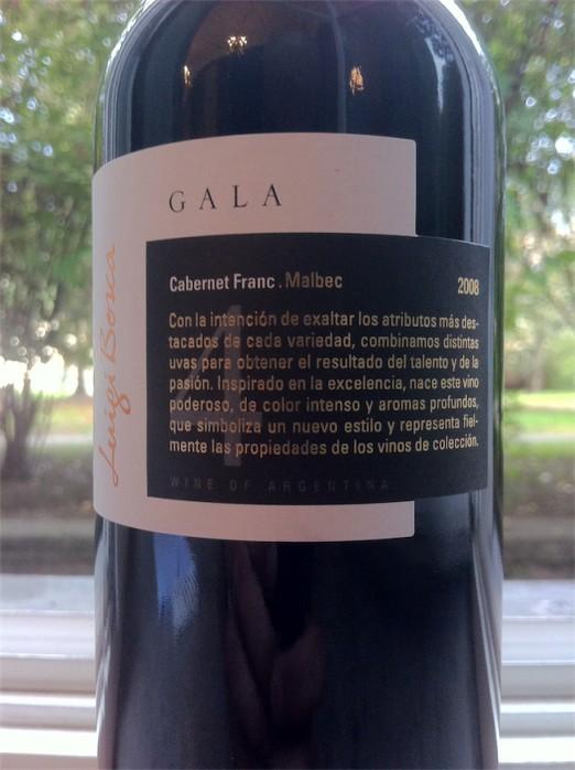 Luigi Bosca gala 4 Cabernet Franc Malbec 2008