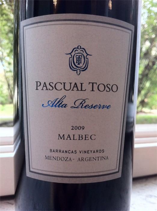 Pascal Toso Alta Reserve 2009 Malbec Mendoza
