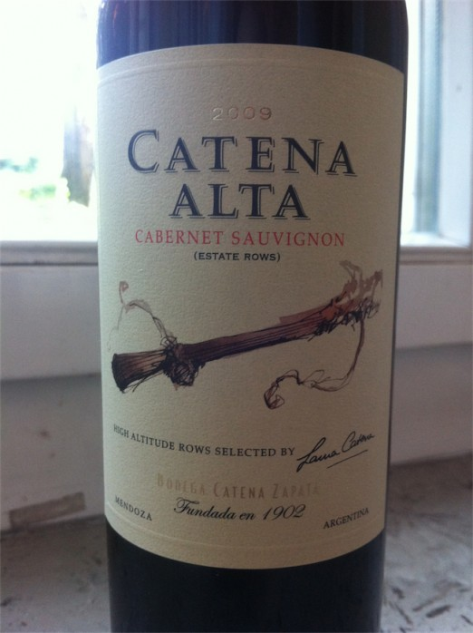 Zapata Catena Alta Cabernet Sauvignon 2009