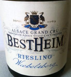 Bestheim Alsace Grand Cru Wiebelsberg 2011