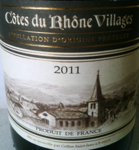 Cellier Saint-Jean Cotes du Rhone-Villages 2011 Lidl