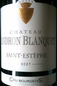 Château Andron Blanquet Saint-Estèphe 2007