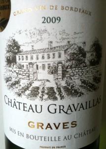 Château Gravaillas Graves Blanc 2009