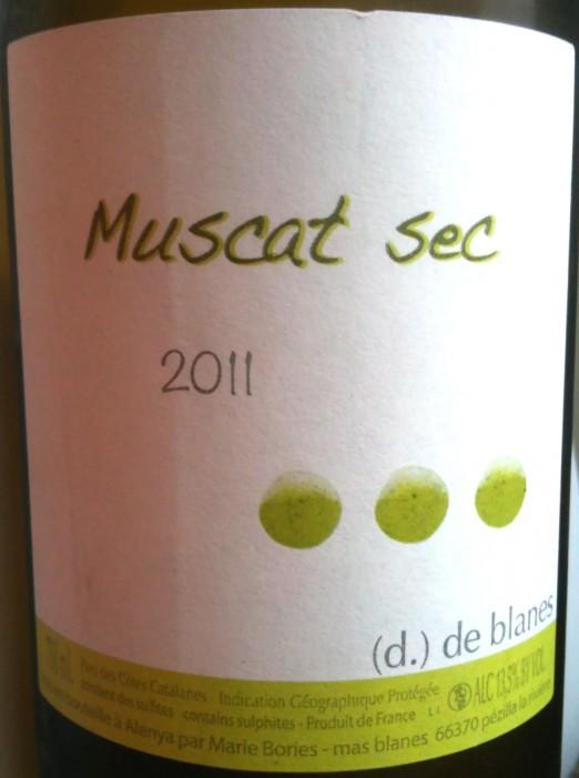 Domaine de Blanes Muscat Sec 2011