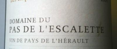 Domaine de Pas de l'Escalette Les Clapas 2009