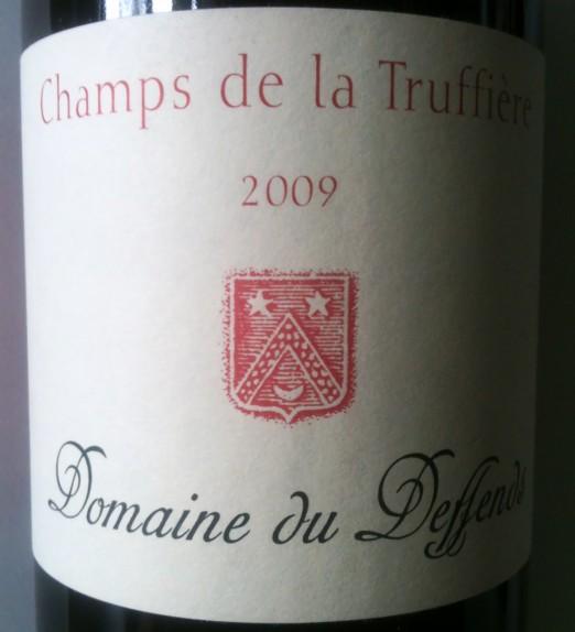 Domaine du Deffends Coteaux Varois Champs de la Truffiere 2009