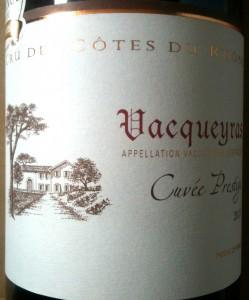 Ferdinand Labarthe Vacqueyras Cuvée Prestige 2011