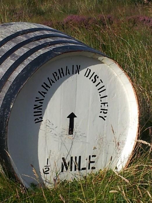 Bunnahabhain distillery road sign