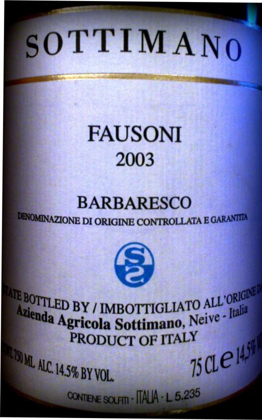 Sottimano Barbaresco Fausoni 2003