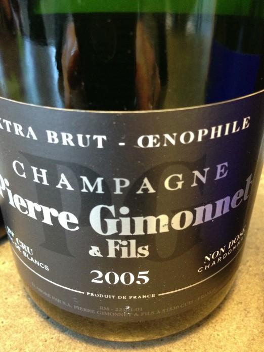 Pierre Gimonnet Champagne Extra-Brut Œnophile 2005