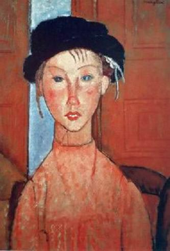 Modigliani Jeune fille au beret -1918