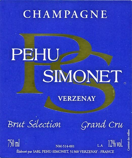 Champagne Pehu Simonet Brut Selection Grand Cru