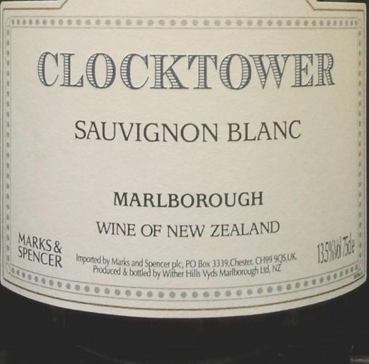 Wither Hills Vineyards Marlborough Sauvignon Blanc Clocktower 2011