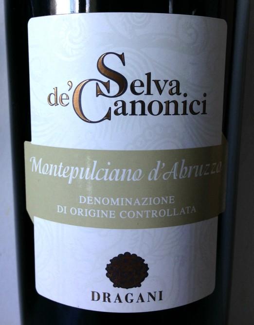 Dragani Montepulciano d'Abruzzo Selva de' Canonici 2009