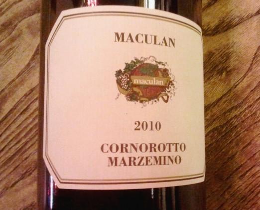 Maculan Cornorotto Marzemino 2010