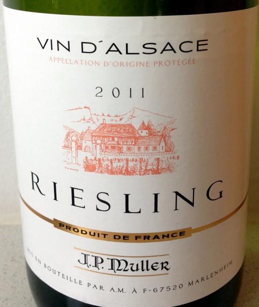 Lidl Alsace Riesling J P Mueller 2011