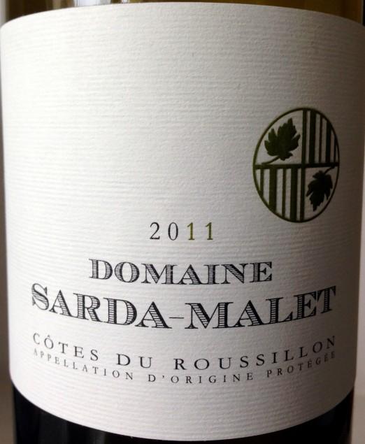 Domaine Sarda-Malet Cotes du Roussillon Blanc 2011
