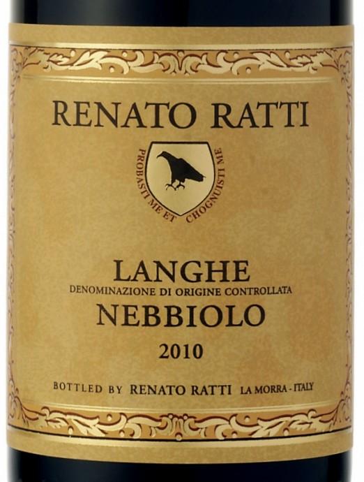 Renato Ratti Langhe Nebbiolo 2010 etykieta