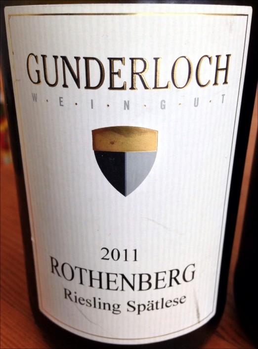 Gunderloch Riesling Spatlese Rothenberg 2011