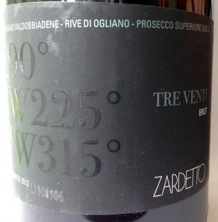 ♥♥ Zardetto Prosecco DOCG Superiore Brut Rive di Ogliano Tre Venti 2012
