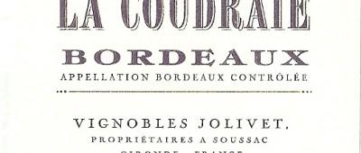 Chateau La Coudraie Bordeaux 2010 etykieta