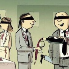 blind tasting cartoon