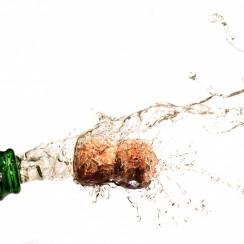Champagne avec bouchon en liège
