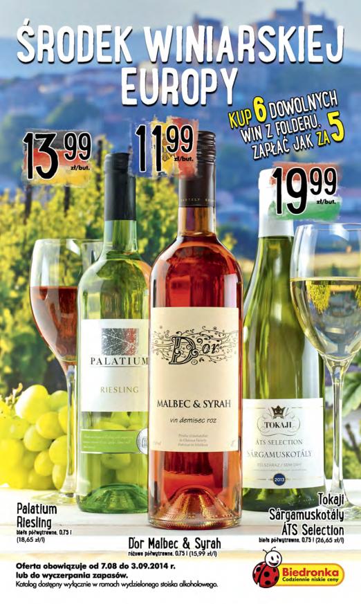 Biedronka Środek winiarskiej Europy okładka