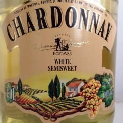 Vinaria Bostavan Chardonnay demidulce