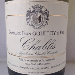 Jean Goulley & Fils Chablis 2013