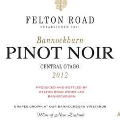 Felton Road Bannockburn Pinot Noir 2012 etykieta