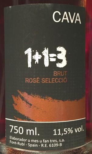 1+1=3 Brut Rosé Selecció