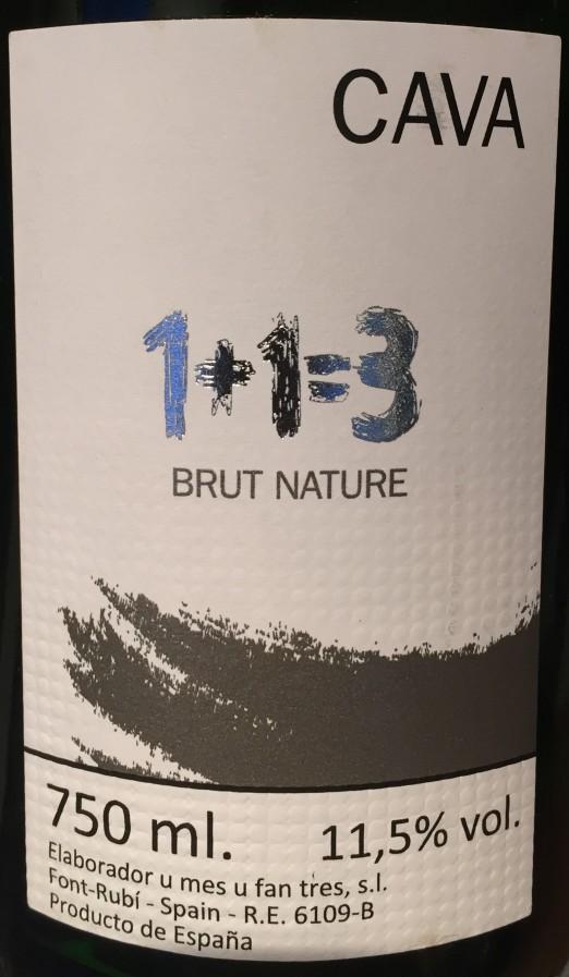 1+1=3 Cava Brut Nature
