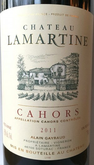 Château Lamartine Cahors 2011