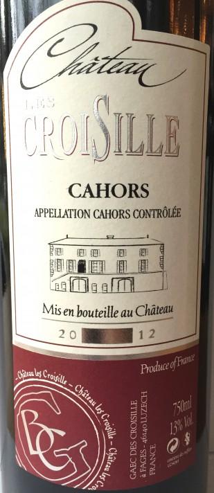 Château Les Croisille 2012