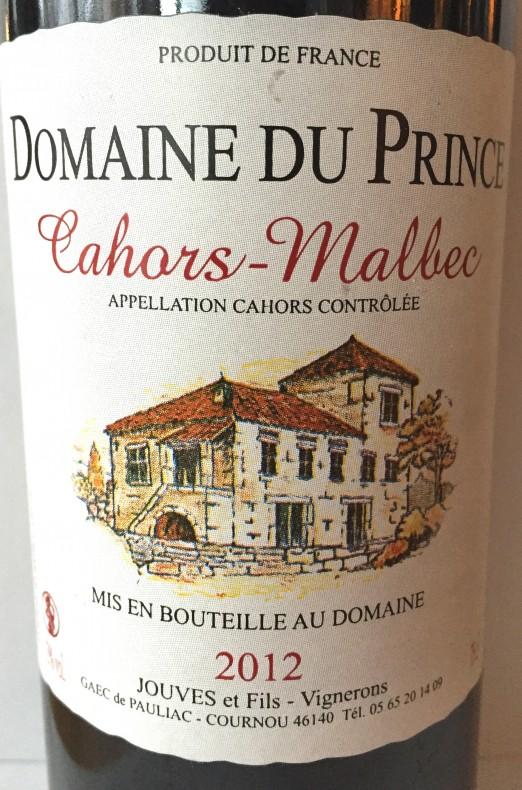 Domaine du Prince Cahors Malbec