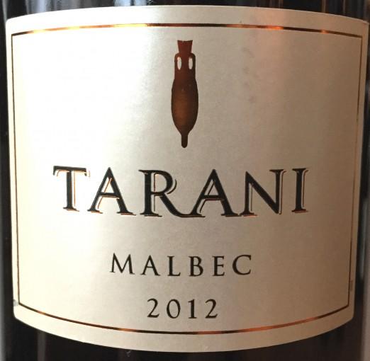 Tarani Malbec 2012